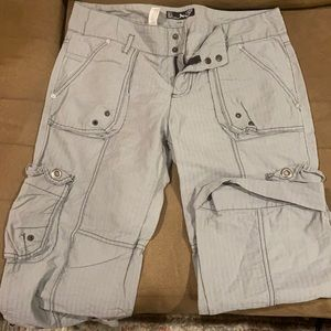 Zara cargo cropped pants